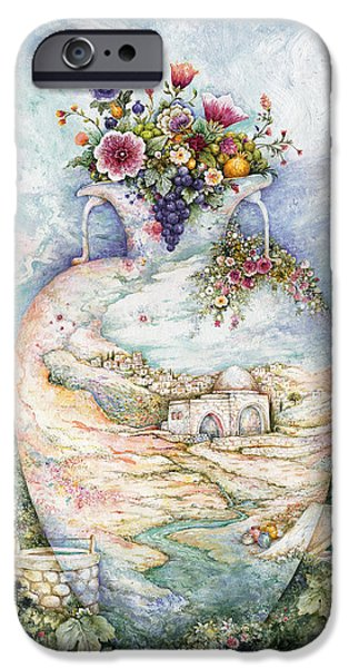 Ancient Paintings iPhone Cases - Rachels Jug iPhone Case by Michoel Muchnik