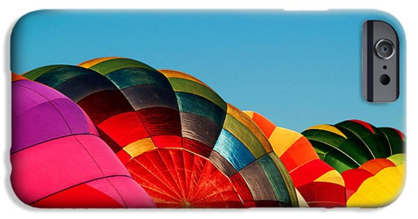 Hot Air Balloon iPhone Cases - Racing Balloons iPhone Case by Bill Gallagher