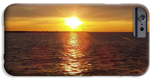 Racing iPhone Cases - Racing To The Fish Before Sunrise iPhone Case by John Telfer