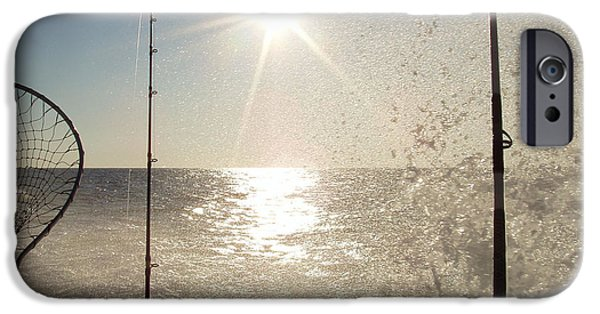 Racing iPhone Cases - Racing to the Fishing Grounds iPhone Case by John Telfer