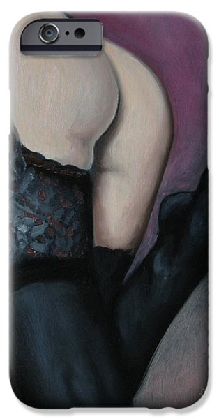 Seductive iPhone Cases - Racy Lacy iPhone Case by Jindra Noewi