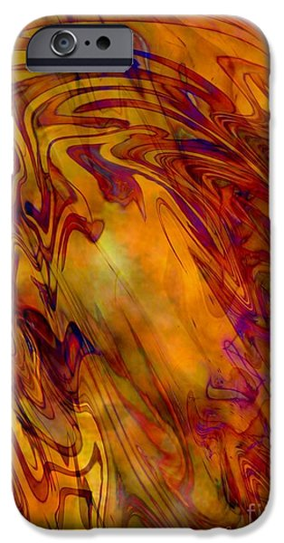 Abstract Digital Photographs iPhone Cases - Radiant - Abstract Art with Border iPhone Case by Carol Groenen