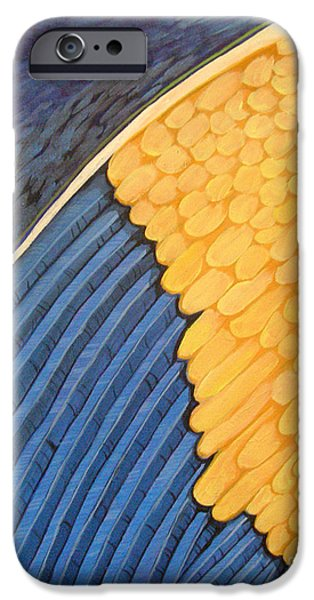 Seraphim Angel Digital Art iPhone Cases - Radiant Angel Panel 1 iPhone Case by Dia T