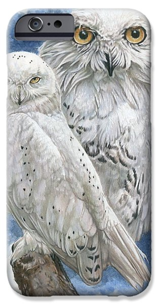 Snowy Mixed Media iPhone Cases - Radiant iPhone Case by Barbara Keith