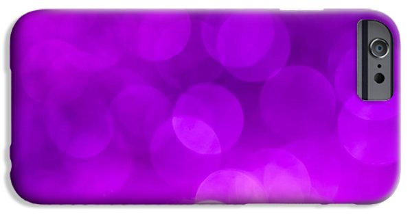 Pantone iPhone Cases - Radiant Orchid Bokeh iPhone Case by Jan Bickerton