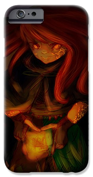Radiating Light - Original Artwork by Amy Manley  iPhone Case by Gina Lee Manley