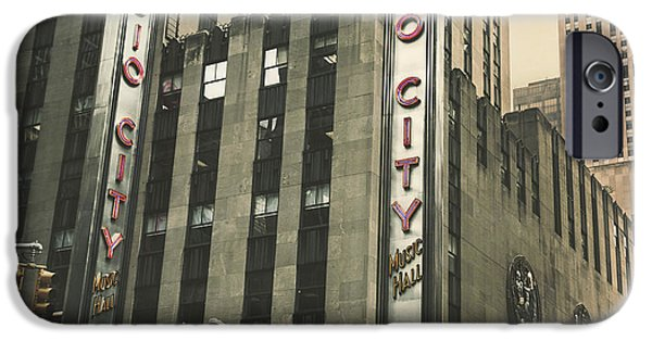 Venue iPhone Cases - Radio City Hall iPhone Case by Andrew Paranavitana