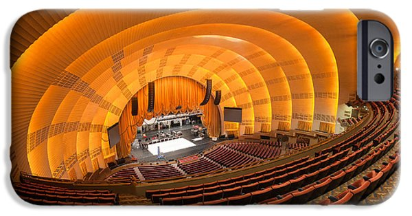 Empire State iPhone Cases - Radio City Music Hall V iPhone Case by Clarence Holmes