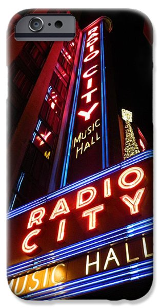 Hall Pyrography iPhone Cases - Radio City iPhone Case by Stefan Troberg