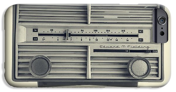 Electronics iPhone Cases - Radio Days iPhone Case by Edward Fielding