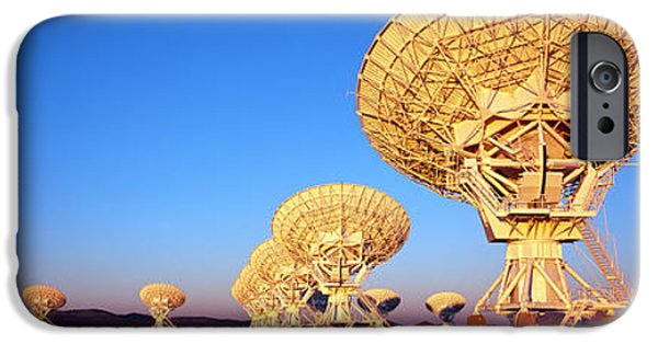Technology iPhone Cases - Radio Telescopes In A Field, Very Large iPhone Case by Panoramic Images