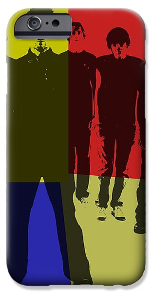 Electronic iPhone Cases - Radiohead Pop Art iPhone Case by Dan Sproul