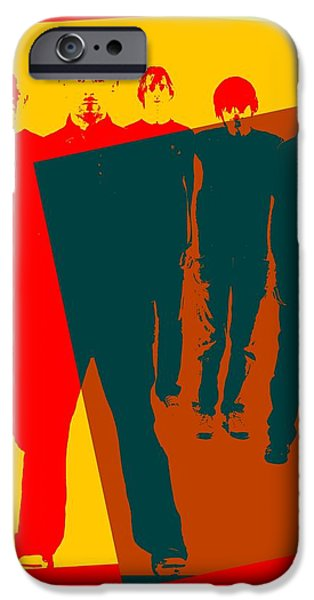 Electronic iPhone Cases - Radiohead Pop Art Poster iPhone Case by Dan Sproul