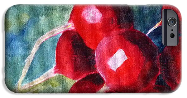 Business Paintings iPhone Cases - Radish iPhone Case by Nancy Merkle