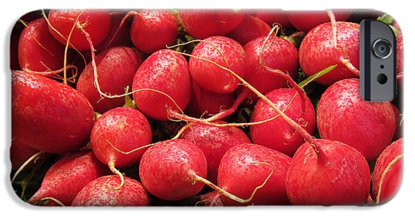 Farm Stand iPhone Cases - Radishes iPhone Case by Victoria Harrington