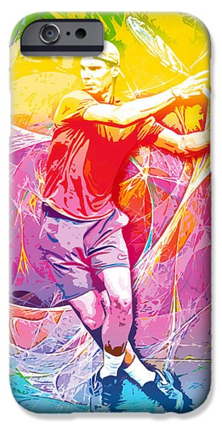 French Open Digital iPhone Cases - Rafael Nadal 01 iPhone Case by RochVanh