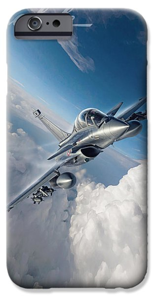 Iraq Digital iPhone Cases - Rafale B iPhone Case by Peter Van Stigt