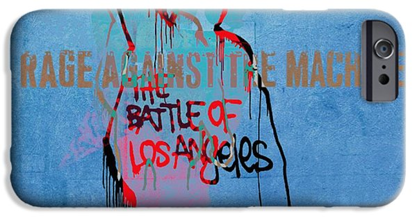 Revolution Mixed Media iPhone Cases - Rage Against The Machine iPhone Case by Dan Sproul
