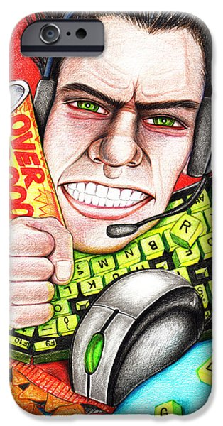 Fury iPhone Cases - Rage Quit iPhone Case by Shawna  Rowe