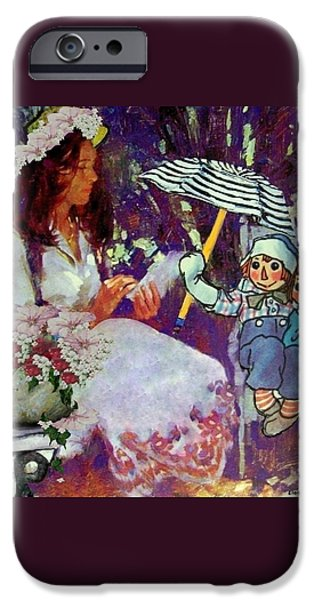 Collectibles Mixed Media iPhone Cases - Raggedy Andys Story iPhone Case by Eloise Schneider