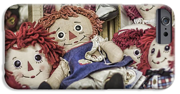 Rag Doll iPhone Cases - Raggedy Ann and Andy iPhone Case by Heather Applegate