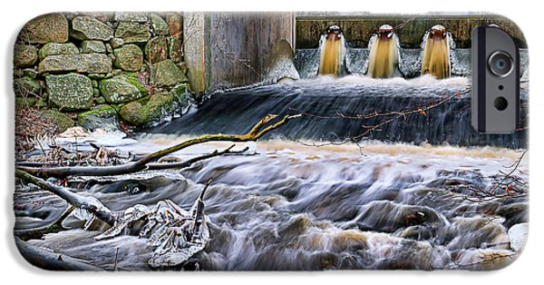 Natural Bridge Station iPhone Cases - Raging River iPhone Case by EXparte SE