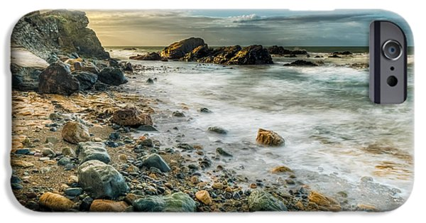 Waterscape iPhone Cases - Raging Sea iPhone Case by Adrian Evans