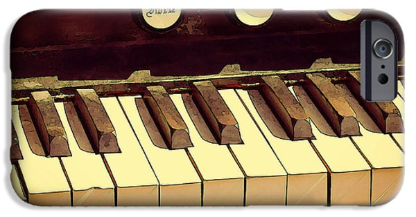 Piano iPhone Cases - Ragtime iPhone Case by Jean Connor