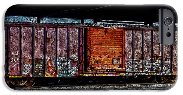 R. Mclellan Photography iPhone Cases - Rail Car Art iPhone Case by R McLellan