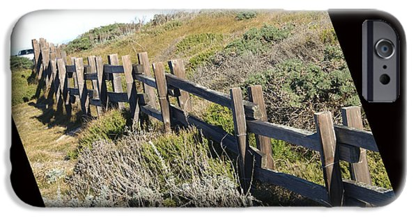 Split Rail Fence iPhone Cases - Rail Fence Black iPhone Case by Barbara Snyder