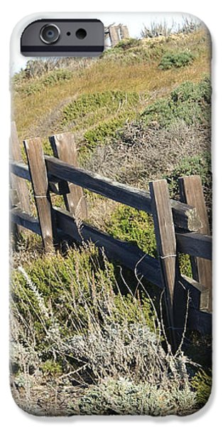 Rail Fence Black iPhone Case by Barbara Snyder