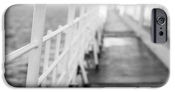 Upper Deck iPhone Cases - Railings iPhone Case by Anne Gilbert
