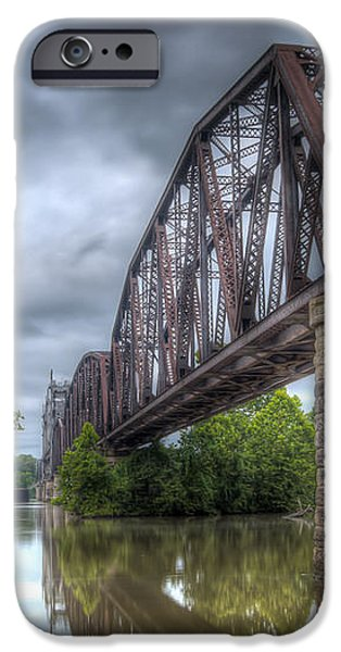 Railroad Bridge iPhone Case by James Barber