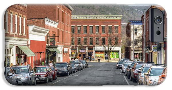 Small iPhone Cases - Railroad Street - Great Barrington iPhone Case by Geoffrey Coelho