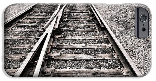 Railway iPhone Cases - Railroad Switch iPhone Case by Olivier Le Queinec
