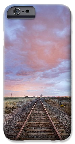Fantastic Gifts iPhone Cases - Railroad Tracks Into the Sunset iPhone Case by James BO  Insogna