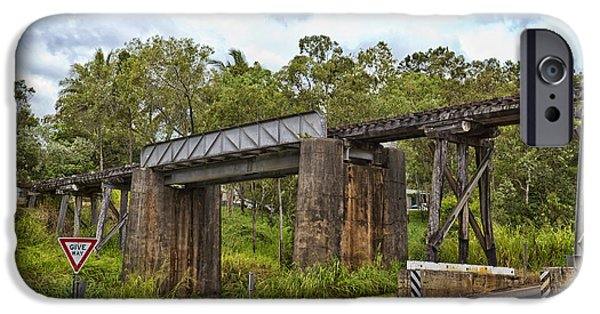 Built Structure iPhone Cases - Railway Bridge in Queensland iPhone Case by Wendy Townrow