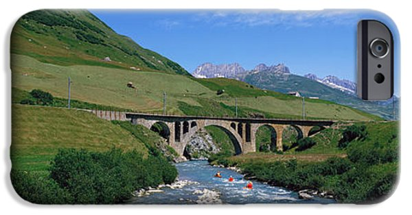 Connection iPhone Cases - Railway Bridge Switzerland iPhone Case by Panoramic Images