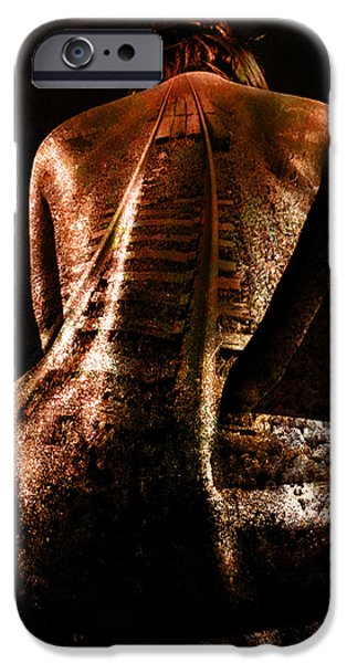 Strange iPhone Cases - Railway Skin iPhone Case by Marian Voicu