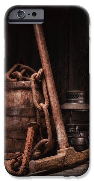Work Tool iPhone Cases - Railway Still Life iPhone Case by Tom Mc Nemar