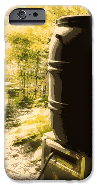 Rain Barrel iPhone Cases - Rain Barrel iPhone Case by Tg Devore