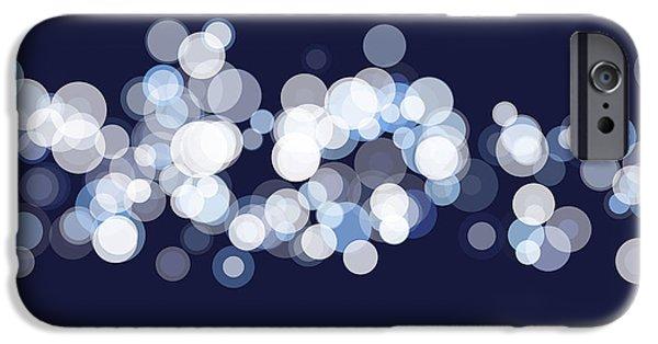Retro iPhone Cases - Rain Bokeh Circle Pattern Horizontal iPhone Case by Frank Ramspott