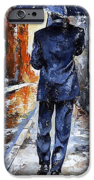 Rainy Day iPhone Cases - Rain day #20 iPhone Case by Emerico Imre Toth