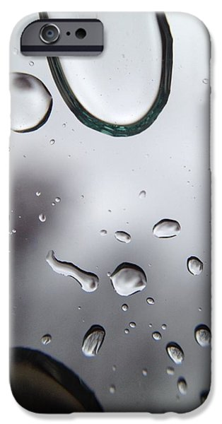 Patrick iPhone Cases - Rain Drops iPhone Case by Patrick