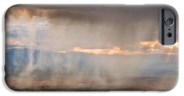 Drama iPhone Cases - Rain iPhone Case by Leland D Howard