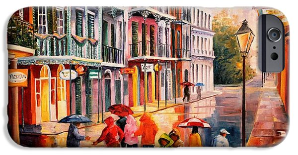 Recently Sold -  - Rainy Day iPhone Cases - Rain on St. Peter Street iPhone Case by Diane Millsap