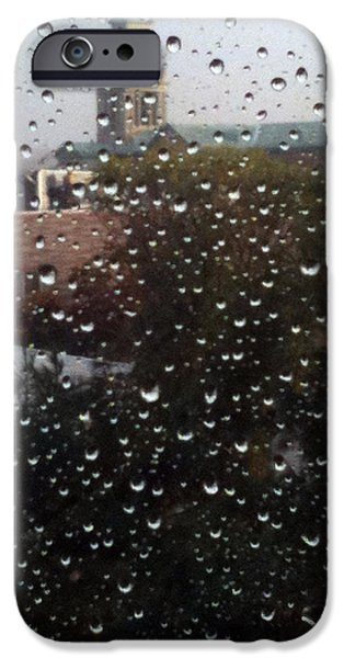 Ridgewood iPhone Cases - Rain ride on Subway iPhone Case by Mieczyslaw Rudek Mietko