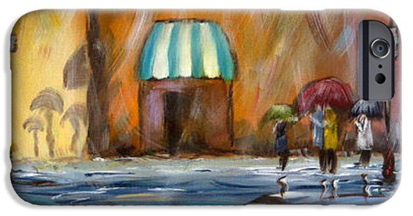 Rainy Day iPhone Cases - Rain Series 1 iPhone Case by Susan Galick