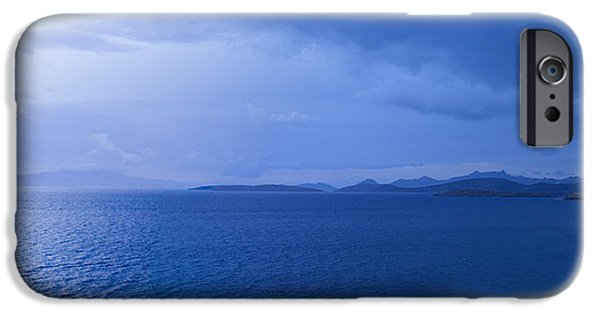 Storm iPhone Cases - Rain Storm In The Sea, Bodrum, Mugla iPhone Case by Panoramic Images