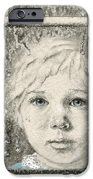 Contemplative Mixed Media iPhone Cases - Rain  iPhone Case by Terry Webb Harshman